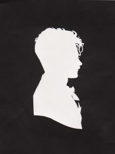 Portret jongeman, geknipt door Jeanette Silhouette
